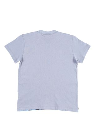 Camiseta-Manga-Curta-Infantil-Para-Menino-Justice-League-Cinza