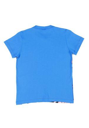 Camiseta-Manga-Curta-Infantil-Para-Menino-Justice-League-Azul