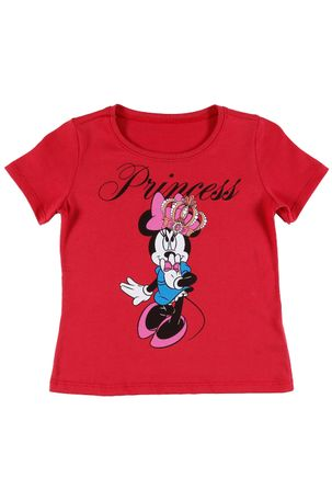Camiseta-Manga-Curta-Disney-Infantil-Para-Menina---Vermelho
