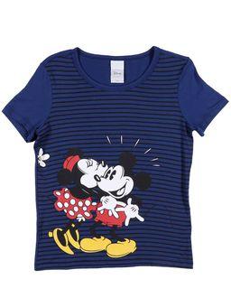 Blusa-Manga-Curta-Juvenil-Para-Menina-Disney-Azul-marinho