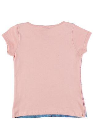 Camiseta-Manga-Curta-Disney-Infantil-para-Menina---Rosa