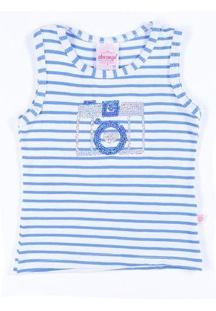Blusa-Regata-Infantil-Para-Menina---Azul-branco