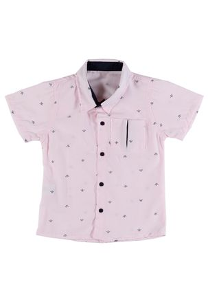 Camisa-Manga-Curta-Infantil-Para-Menino---Rosa