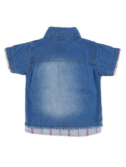 Camisa-Jeans-Infantil-Para-Bebe-Menino