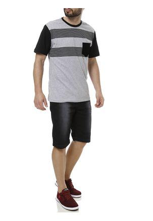 Camiseta-Manga-Curta-Masculina-Full-Cinza-claro