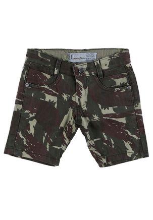 Bermuda-Jeans-Infantil-Para-Menino-Camuflada---Verde
