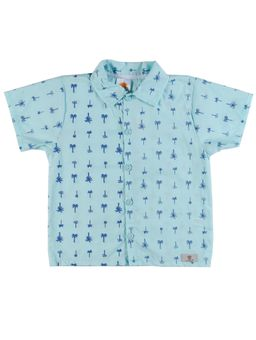Camisa-Manga-Curta-Infantil-Para-Menino---Verde