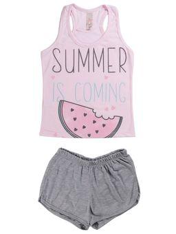 Pijama-Curto-Juvenil-Para-Menina---Rosa