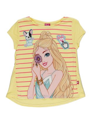 Blusa-Manga-Curta-Barbie-Infantil-Para-Menina
