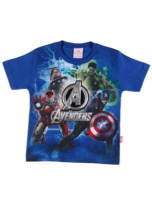Camiseta-Manga-Curta-Avengers-Infantil-Para-Menino---Azul