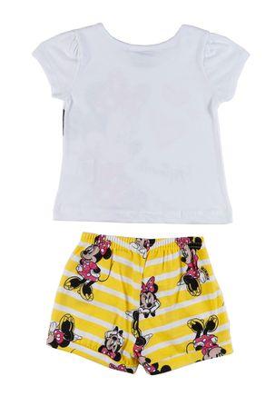 Conjunto-Disney-Baby-Infantil-Para-Bebe-Menina---Branco-amarelo