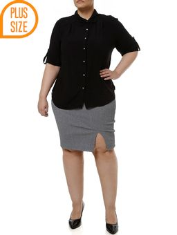 Saia-Media-Plus-Size-Feminina-Cinza