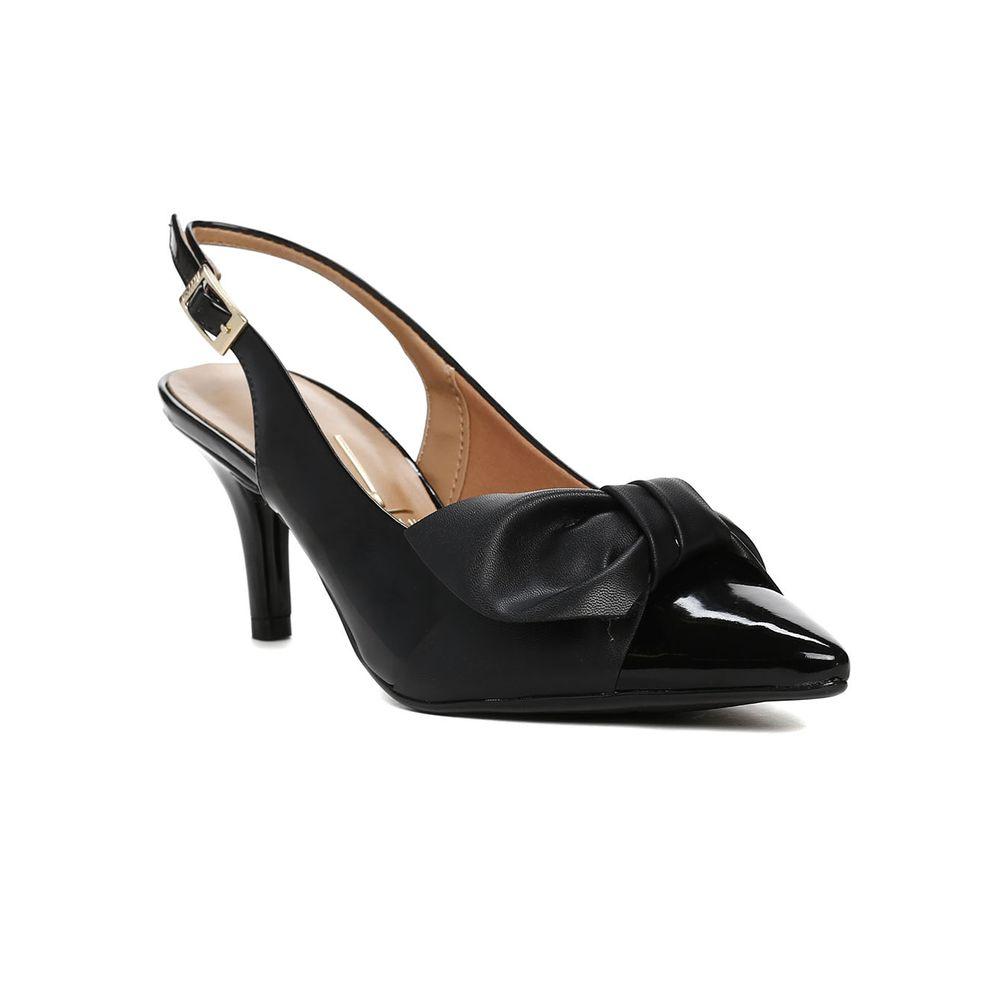 Sapato Chanel Feminino Vizzano Preto 75790d6df4