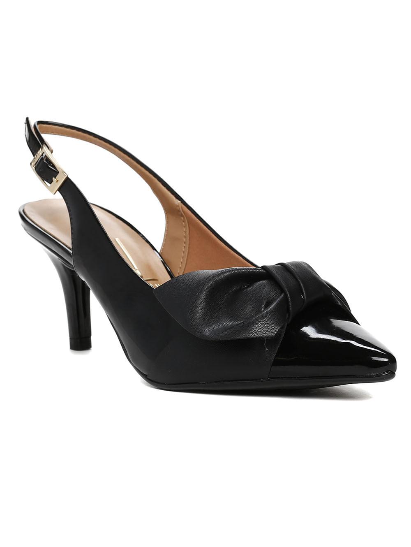 c4dc914cc Sapato Chanel Feminino Vizzano Preto - Lojas Pompeia