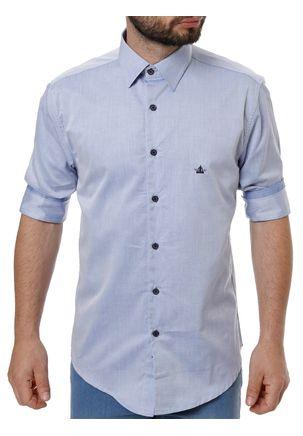 Camisa-Manga-3-4-Masculina-Azul-claro