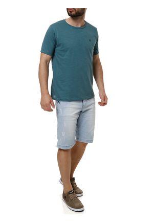 Camiseta-Manga-Curta-Masculina-Verde-escuro