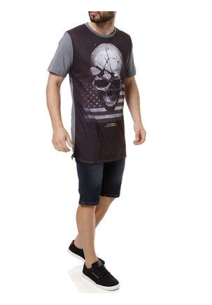 Camiseta-Manga-Curta-Masculina-No-Stress-Cinza