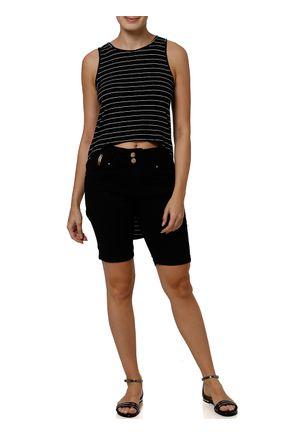 Bermuda-Jeans-Feminina-Preto