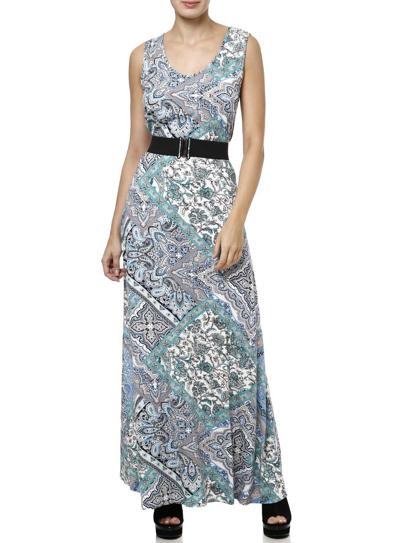 049b39de5 Vestido Longo Feminino Verde - Lojas Pompeia