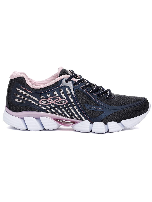 0532fe88e68 Tênis Esportivo Feminino Olympikus Delicate 3 Azul marinho rosa ...