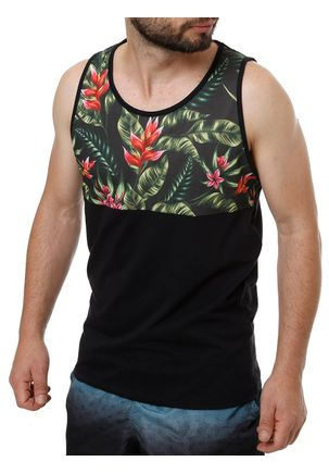 Camiseta-Regata-Masculina-No-Stress-Preto-verde