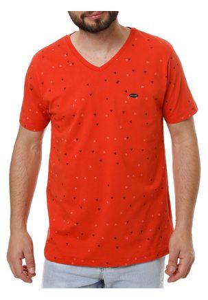 Camiseta-Manga-Curta-Masculina-No-Stress-Coral-