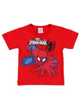 Camiseta-Manga-Curta-Spider-Man-Infantil-Para-Menino---Vermelho