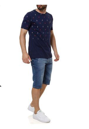 Camiseta-Manga-Curta-Masculina-Azul-marinho-