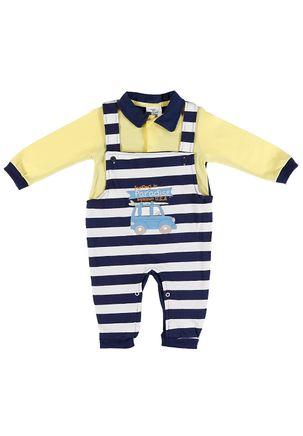Macacao-Infantil-Para-Bebe-Menino---Amarelo