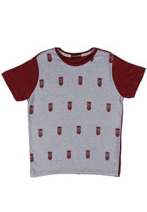 Camiseta-Manga-Curta-Local-Juvenil-Para-Menino---Bordo