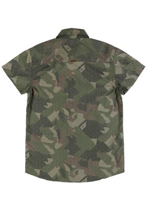 Camisa-Manga-Curta-Camuflada-Juvenil-Para-Menino---Verde