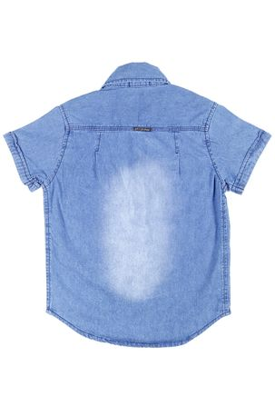 Camisa-Jeans-Manga-Curta-Infantil-Para-Menino---Azul