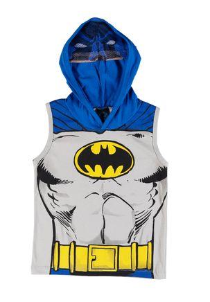 Camiseta-Regata-Justice-League-Infantil-Para-Menino---Cinza