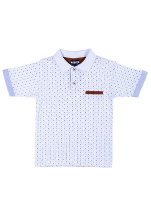 Camisa-Polo-Infantil-Para-Menino---Branco