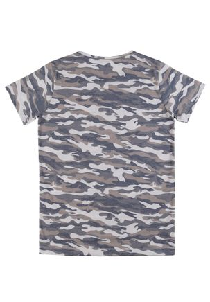 Camiseta-Manga-Curta-Camuflada-Juvenil-Para-Menino---Bege