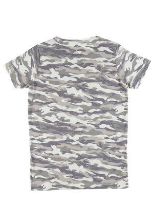 Camiseta-Manga-Curta-Camuflada-Juvenil-Para-Menino---Verde