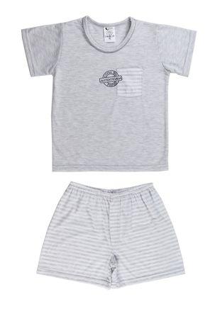 Pijama-Curto-Infanto-Juvenil-Para-Menino---Cinza