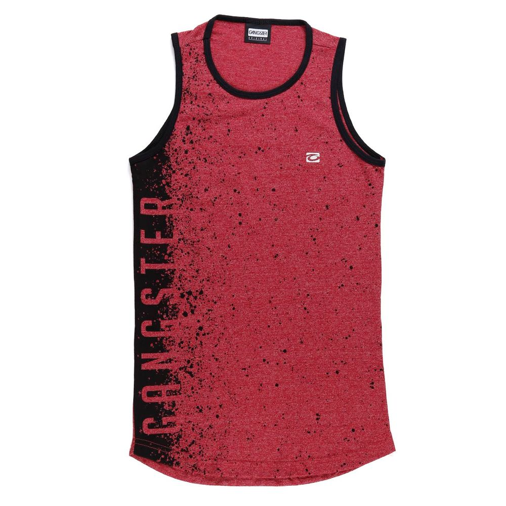 52f9426c01 Camiseta Regata Juvenil Para Menino Gangster Bordô - Lojas Pompeia