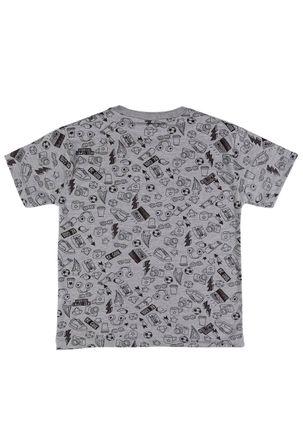 Camiseta-Infantil-Manga-Curta-para-Menino---Cinza