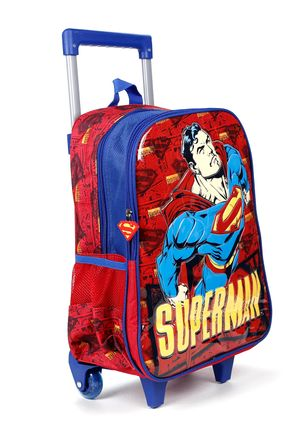 Mochila-Escolar-Superman-Infantil-Para-Menino---Vermelho