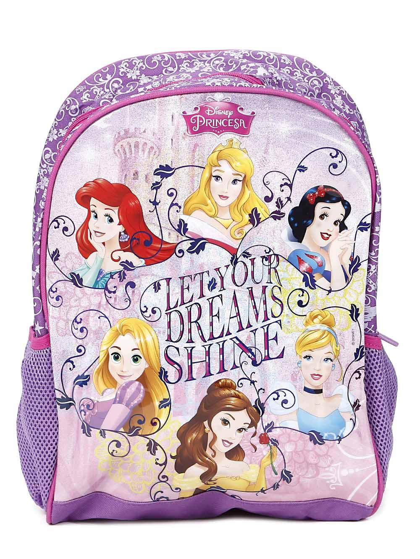 a8e45fe99 Mochila Escolar Disney Princesas Infantil Para Menina - Lilás ...