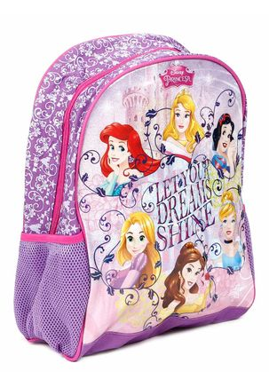 Mochila-Escolar-Disney-Princesas-Infantil-Para-Menina---Lilas