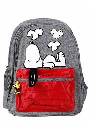 Mochila-Snoopy-Cinza