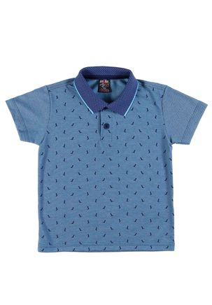 Polo-Manga-Curta-Infantil-Para-Menino---Azul