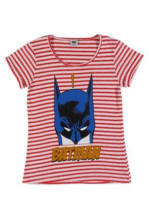 Blusa-Manga-Curta-Batman-Juvenil-Para-Menina---Vermelho