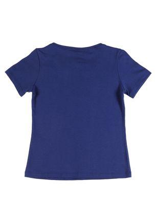 Camiseta-Manga-Curta-Disney-Infantil-Para-Menina---Azul-marinho-6