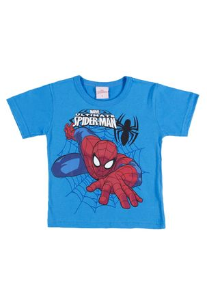 Camiseta-Manga-Curta-Spider-Man-Infantil-Para-Menino---Azul-1