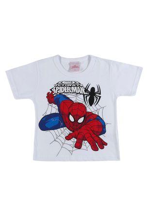 Camiseta-Manga-Curta-Spider-Man-Infantil-Para-Menino---Branco-1