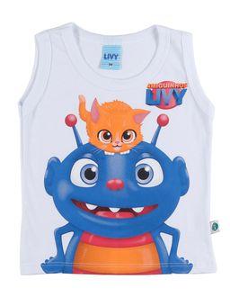 Camiseta-Regata-Infantil-Para-Bebe-Menino---Branco-M