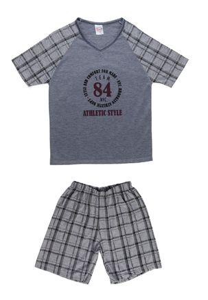 Pijama-Curto-Infanto-Juvenil-para-Menino---Cinza-16